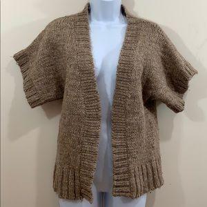 Aeropostale Short Sleeve Open Front Sweater Sz XL